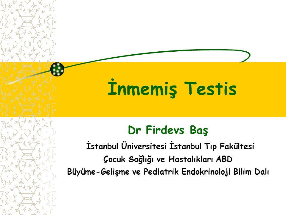 Dr Firdevs Baş İstanbul Üniversitesi İstanbul Tıp Fakültesi Çocuk Sağlığı ve Hastalıkları ABD Büyüme-Gelişme ve Pediatrik Endokrinoloji Bilim Dalı İnm