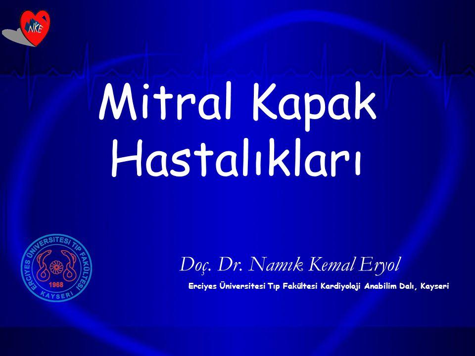 Mitral Kapak Hastalıkları Doç. Dr. Namık Kemal Eryol Erciyes Üniversitesi Tıp Fakültesi Kardiyoloji Anabilim Dalı, Kayseri