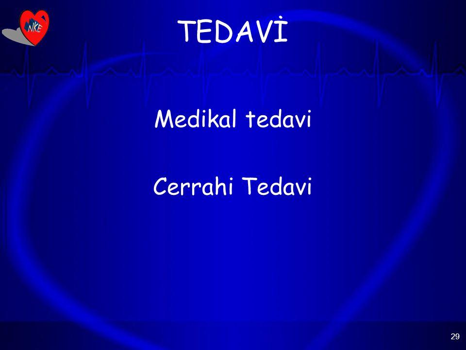 29 TEDAVİ Medikal tedavi Cerrahi Tedavi