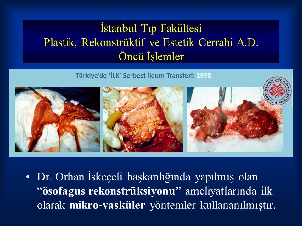 """İstanbul Tıp Fakültesi Plastik, Rekonstrüktif ve Estetik Cerrahi A.D. Öncü İşlemler Dr. Orhan İskeçeli başkanlığında yapılmış olan """"ösofagus rekonstrü"""