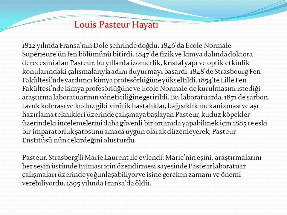 Joseph Meister adlı bir çocuk kuduz bir köpek tarafından on dört yerinden ısırıldığında, anne ve babası çocuğu Louis Pasteur e getirdiler.