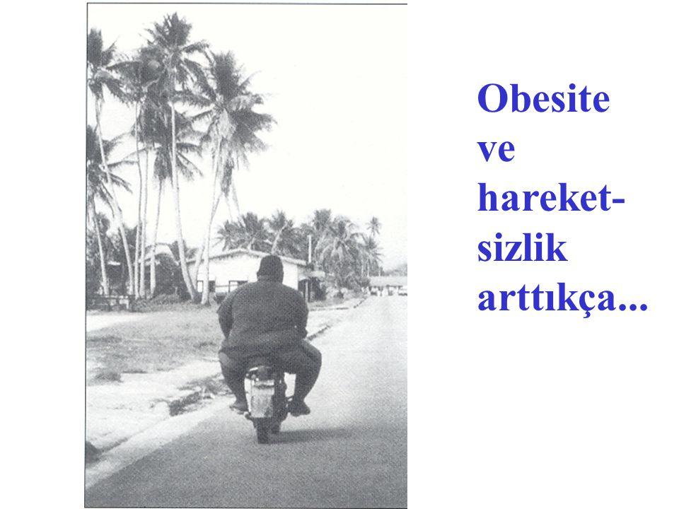 Obesite ve hareket- sizlik arttıkça...