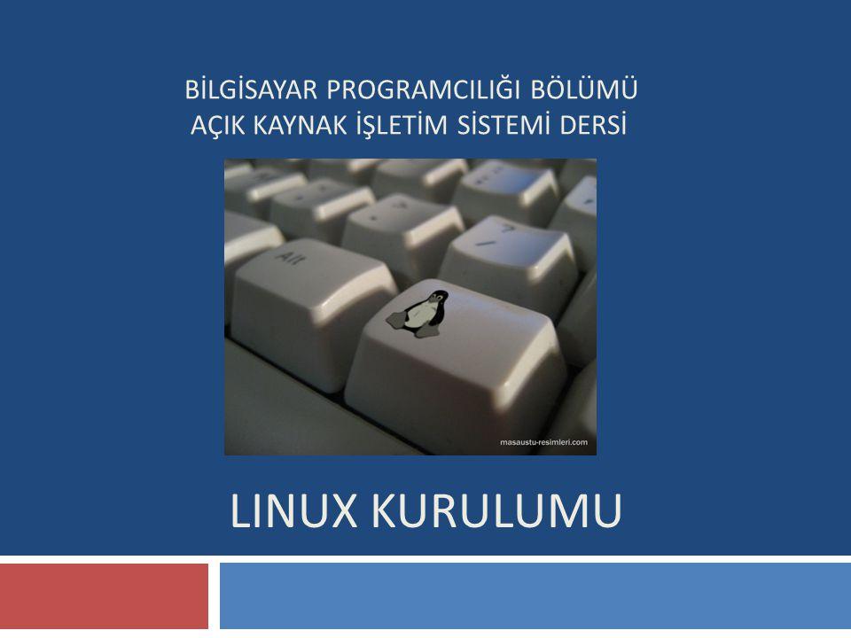 Linux Kurulumu Disk bölümlendirme aşamasında yapacağınız ayarlar diskinizin üzerinde yer alan verileri silebileceğinden, ayarların doğruluğundan ve mevcut diskinizde yer alan bilgilerin mutlaka bir yedeğini aldığınızdan emin olun.