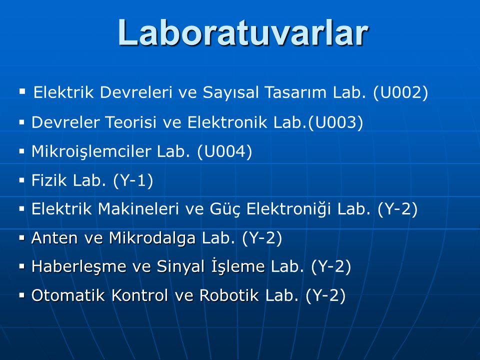 Laboratuvarlar Laboratuvarlar  Elektrik Devreleri ve Sayısal Tasarım Lab.