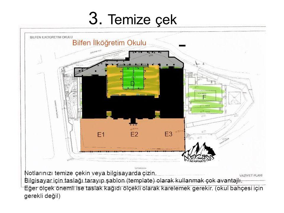 4. Yeni Taslak ile Bahçede dolaş Kırmızı: Düzeltmeler Mavi: Eklemeler