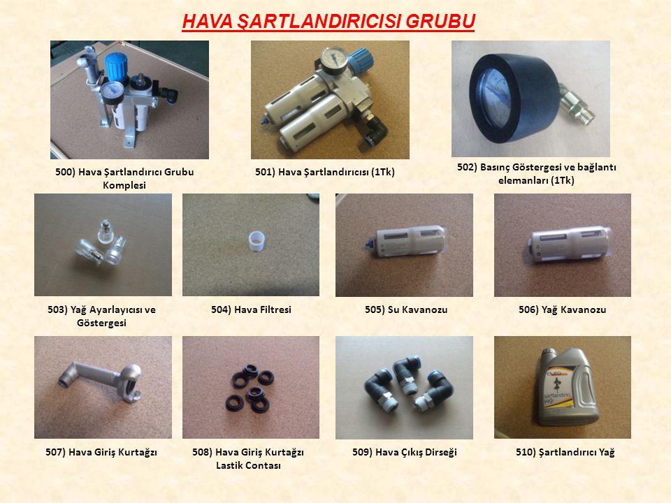 HAVA ŞARTLANDIRICISI GRUBU 500) Hava Şartlandırıcı Grubu Komplesi 501) Hava Şartlandırıcısı (1Tk) 502) Basınç Göstergesi ve bağlantı elemanları (1Tk)