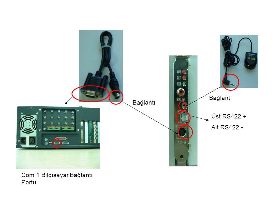 Com 1 Bilgisayar Bağlantı Portu Bağlantı Üst RS422 + Alt RS422 - Bağlantı