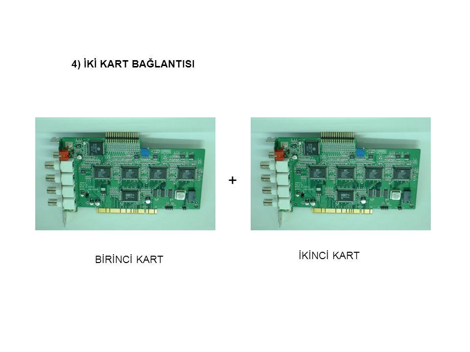 Birinci Kartikinci Kart 4) 8 kamera için bağlantı 8Kamera 1.