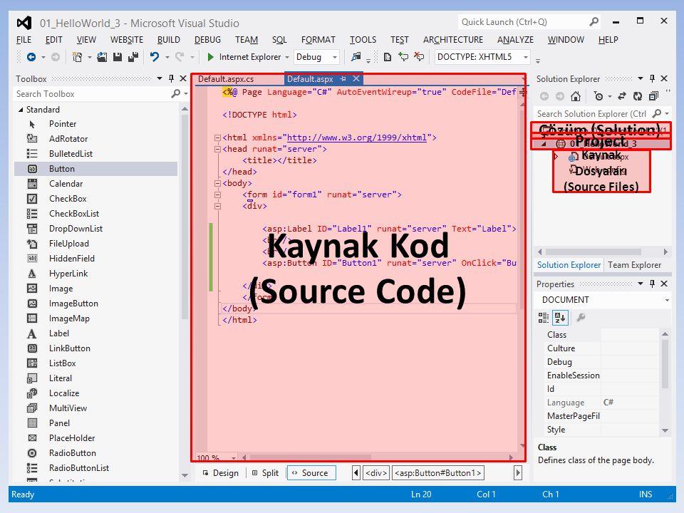 50 Kaynak Kod (Source Code) Çözüm (Solution) Project Kaynak Dosyaları (Source Files)