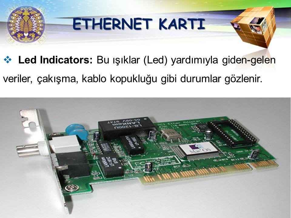 LOGO Ethernet kartları network sistemlerinde kullanılan bilgisayarlar arasındaki iletişimi sağlayan devrelerdir. Ethernet kartlar 8, 16 ve 32 bit'lik