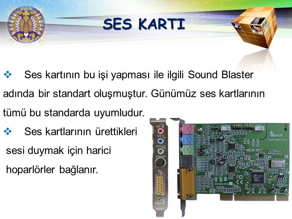 LOGO SES KARTI Ses kartları, bilgisayarlarda bir zamanların beeep sesinin ötesinde, olağanüstü sesler sunabilen kartlardır. Ses kartları bir mikrofon