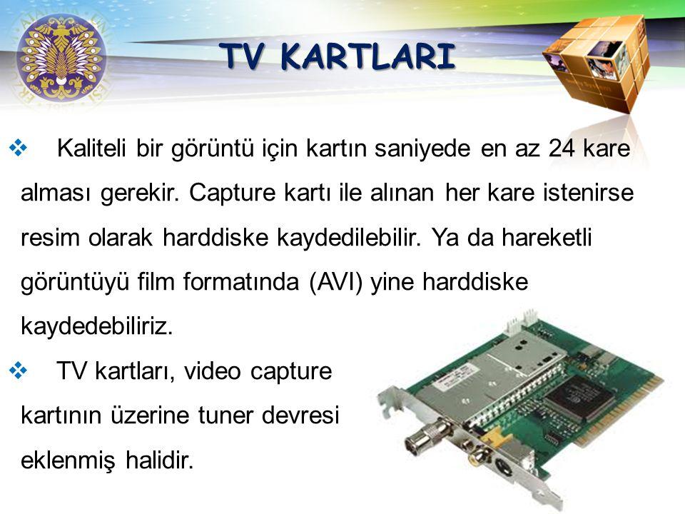 LOGO Video Capture kartları (Görüntü yakalama kartı), bir kamera, video veya tuner devresi (TV yayınlarını almaya yarayan devre) yardımıyla bilgisayar