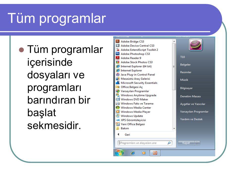 Tüm programda başlıca dosyalar Tüm programdaki başlıca dosyalar başlangıç,donatılar ve oyunlardır.