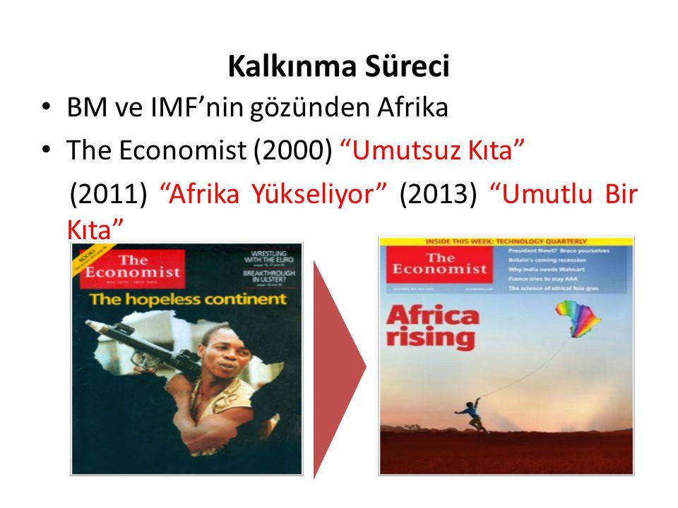 """Kalkınma Süreci BM ve IMF'nin gözünden Afrika The Economist (2000) """"Umutsuz Kıta"""" (2011) """"Afrika Yükseliyor"""" (2013) """"Umutlu Bir Kıta"""""""
