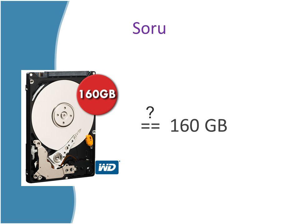 Soru == 160 GB ?