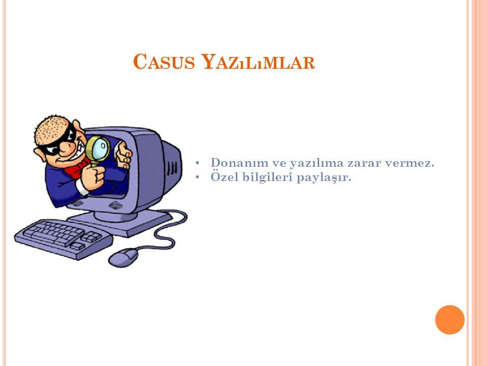 C ASUS Y AZıLıMLAR Donanım ve yazılıma zarar vermez. Özel bilgileri paylaşır.