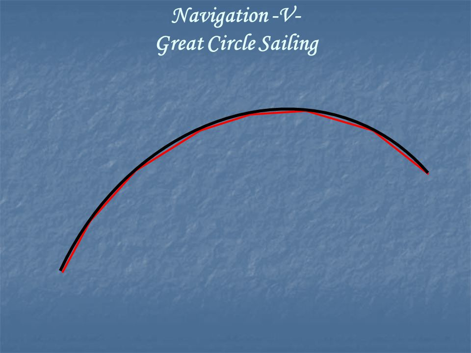 Navigation -V- Great Circle Sailing