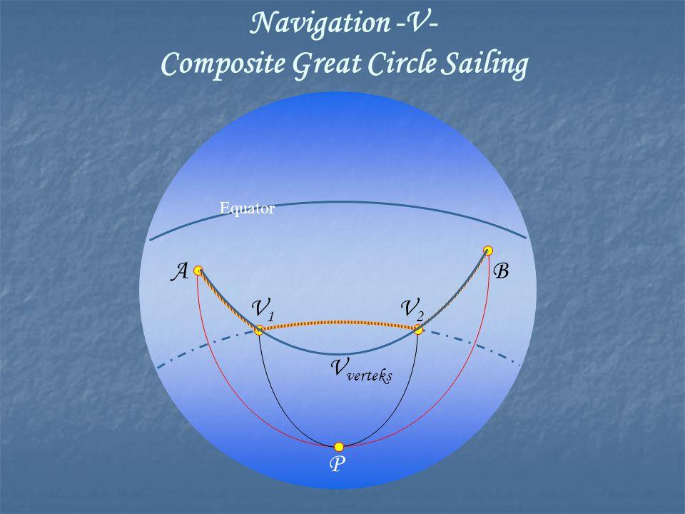 Equator P AB V1V1 V2V2 V verteks
