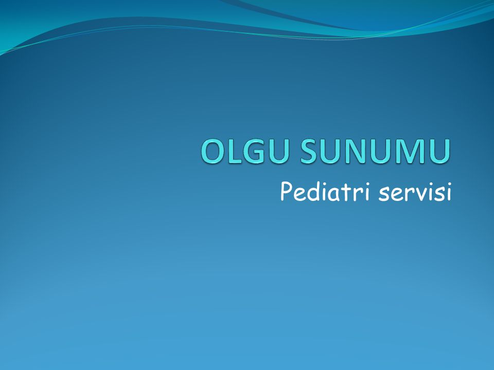Pediatri servisi