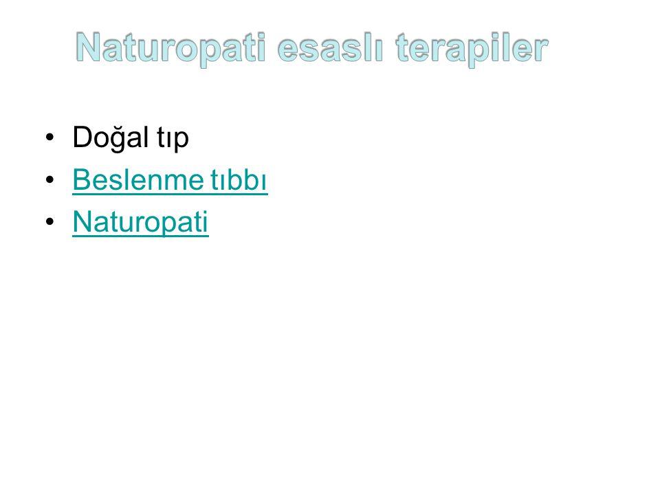 Doğal tıp Beslenme tıbbı Naturopati