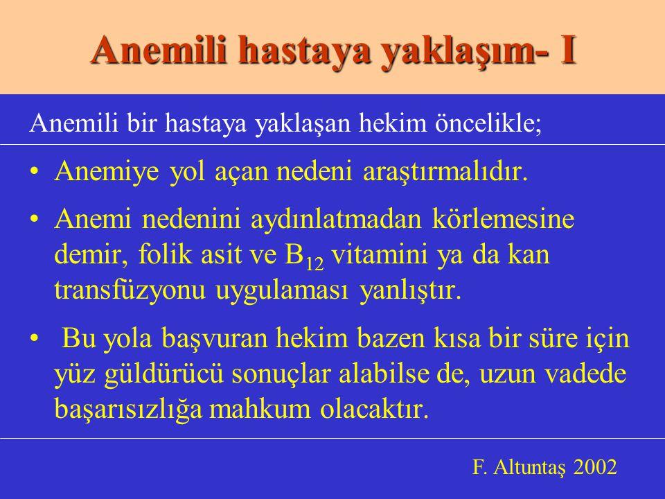 b.Myeloftizik anemiler b.
