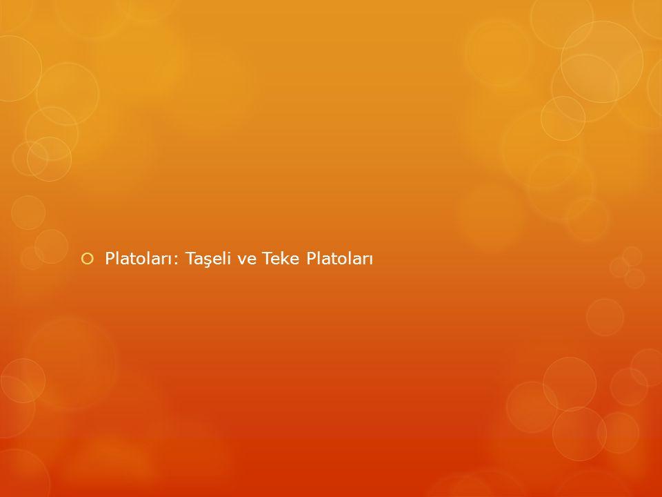  Platoları: Taşeli ve Teke Platoları