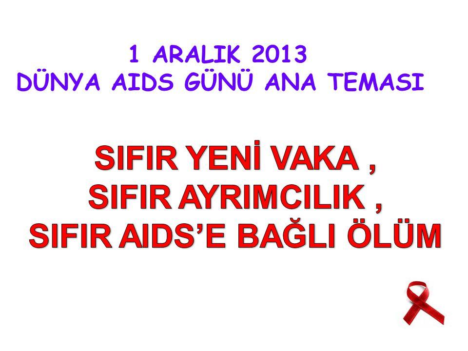 1 ARALIK 2013 DÜNYA AIDS GÜNÜ ANA TEMASI