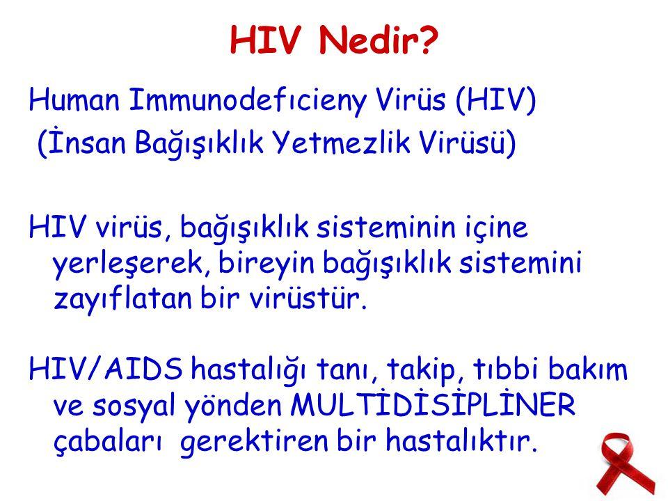 Dünyadaki durumu ●Dünyada yaklaşık 35.3 milyon erişkin ve çocuğun HIV ile enfekte olduğu, her gün yaklaşık 7000 kişinin HIV enfeksiyonu aldığı tahmin edilmektedir.