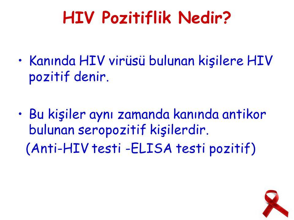 HIV Pozitiflik Nedir.Kanında HIV virüsü bulunan kişilere HIV pozitif denir.