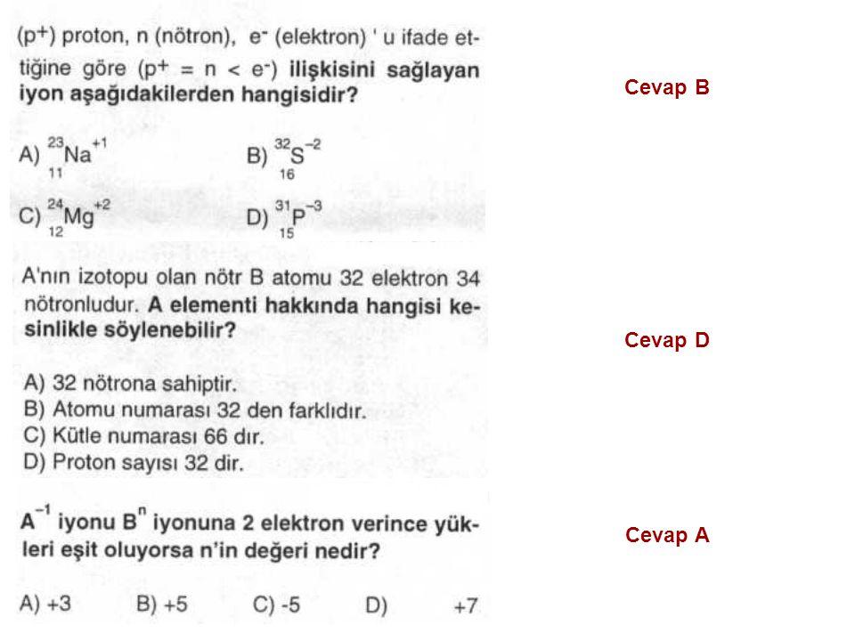 Cevap B Cevap D Cevap A