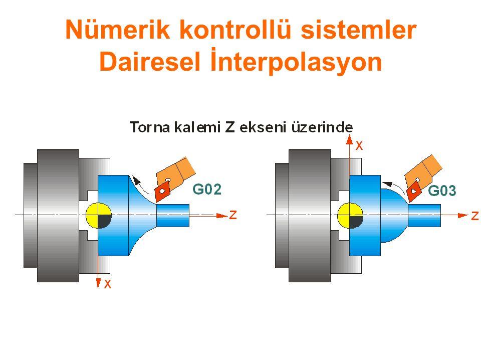 Nümerik kontrollü sistemler Dairesel İnterpolasyon