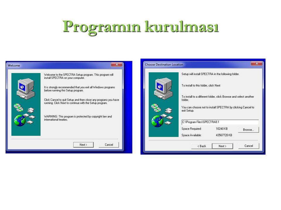Programın kurulması 3
