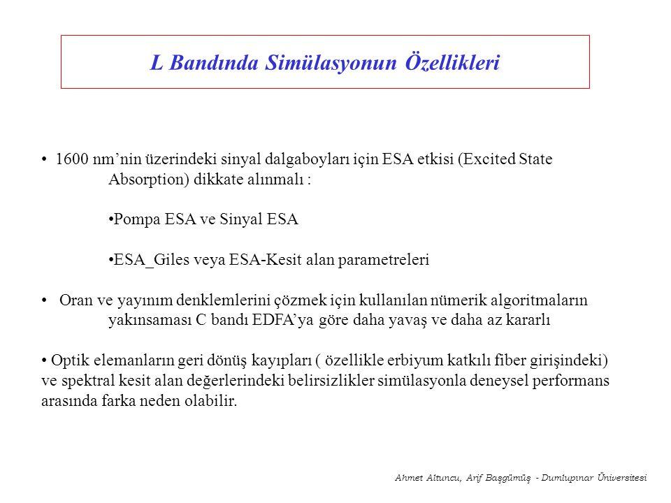 Optiwave Optiamplifier 4.0 Ahmet Altuncu, Arif Başgümüş - Dumlupınar Üniversitesi Şekil.3.