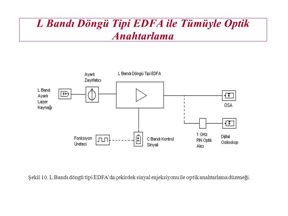 Çekirdek Sinyal Enjeksiyonunun Etkileri Şekil 8. L bandı döngü tipi EDFA'da çıkış ASE spektrumunun çekirdek sinyal gücü ile değişimi