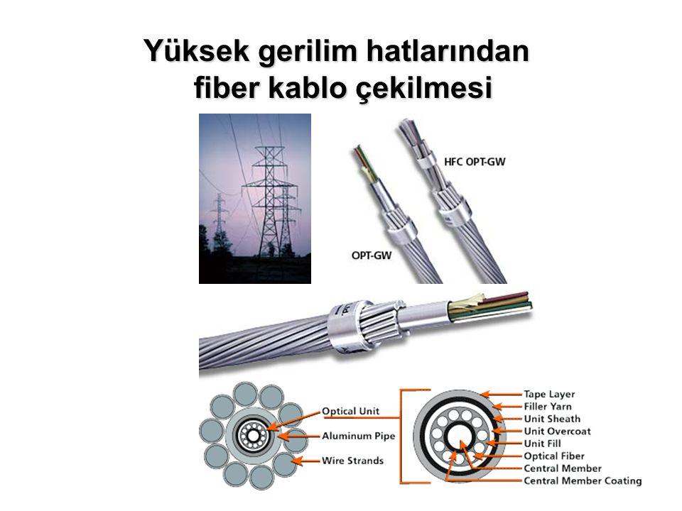 Termoplastik tüp Jel dolgusu Çok sayıda 250 mikron fiberler Merkez FRP dayanıklılık elemanı Polietilen Dış kılıf Büyük kablo çapı Aramid dayanıklılık