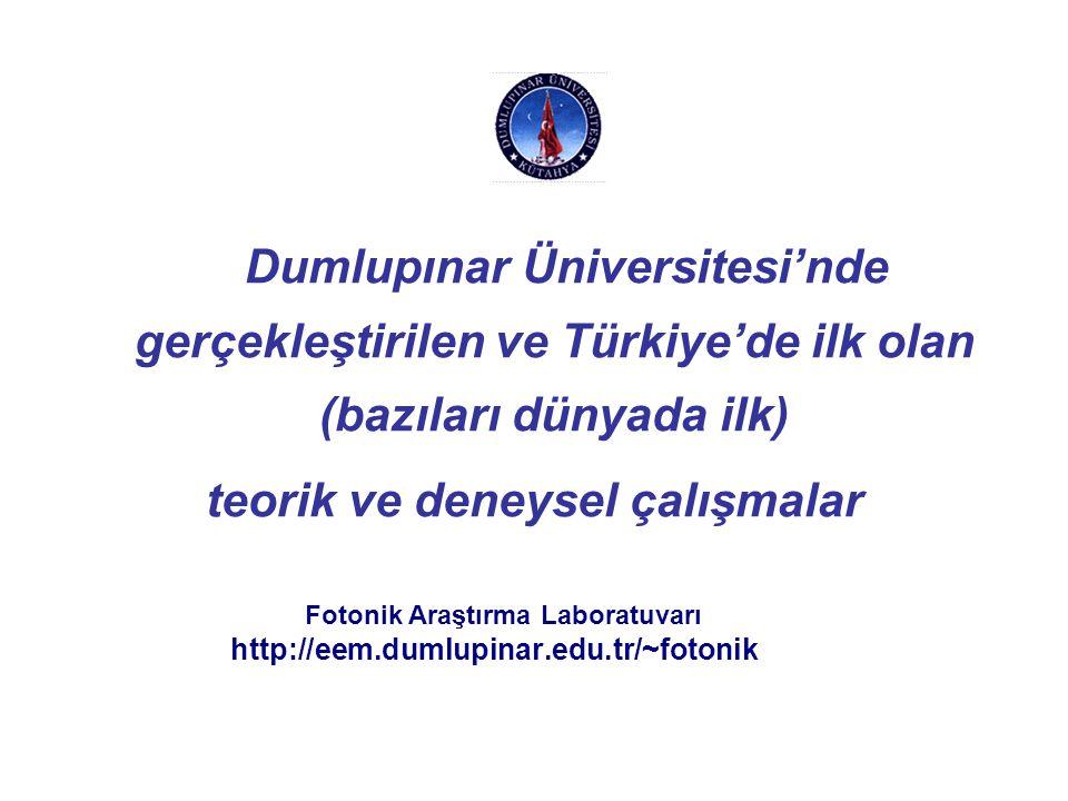 Metro-12 EDF Parametreleri Ahmet Altuncu, Arif Başgümüş - Dumlupınar Üniversitesi Metro-12 erbiyum katkılı fiber parametreleri. NA0.21 Kesim dalgaboyu