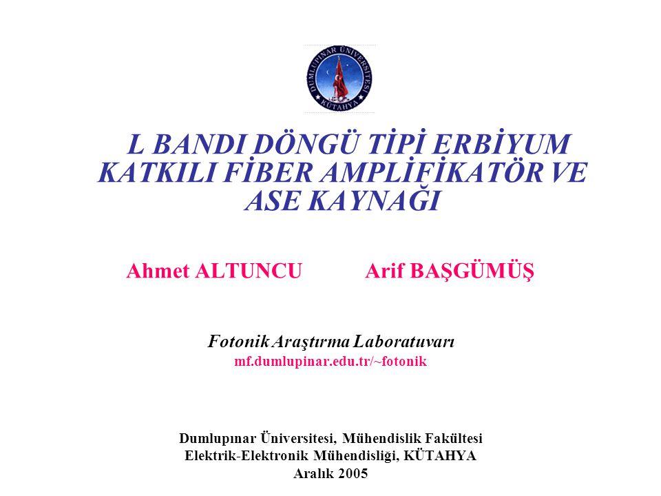 Simülasyon Sonuçları-8 Ahmet Altuncu, Arif Başgümüş - Dumlupınar Üniversitesi Şekil.11. 980 nm'de çift yönlü pompalama için 20 dB kazanç bandgenişliği
