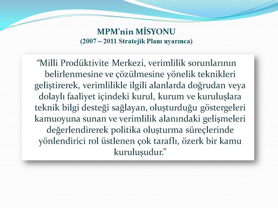 MPM'nin MİSYONU (2007 – 2011 Stratejik Planı uyarınca)