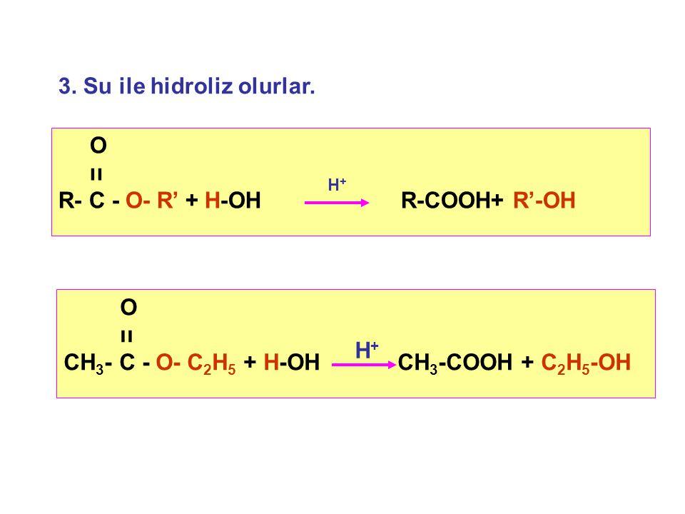 3.Su ile hidroliz olurlar.