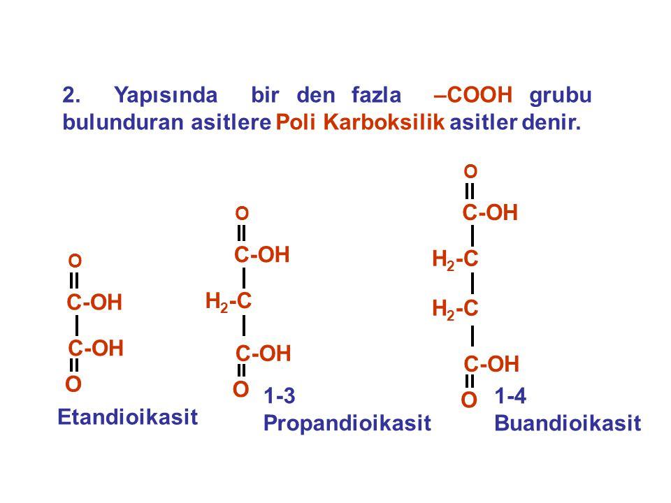 4.KARBOKSİLİK ASİT TUZLARINDAN Karboksilik asit tuzlarının asitlerle tepkimesinden karboksilik asitler elde edilirler.