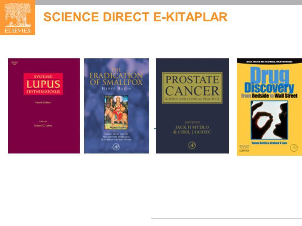 SCIENCE DIRECT E-KITAPLAR