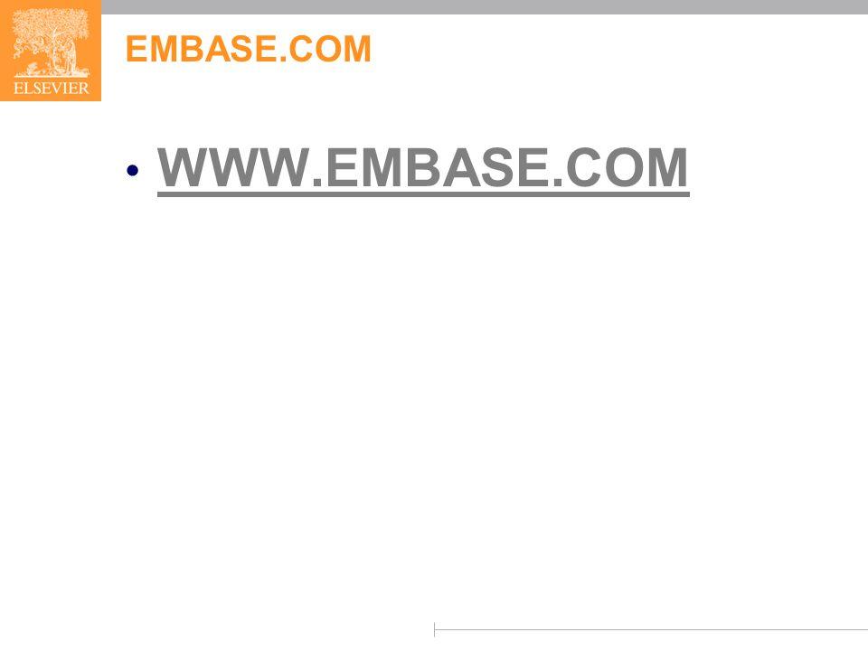EMBASE.COM WWW.EMBASE.COM