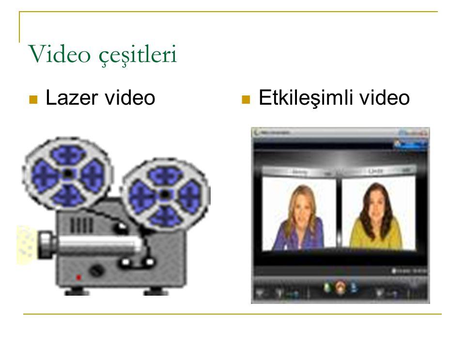 Video çeşitleri Lazer video Etkileşimli video