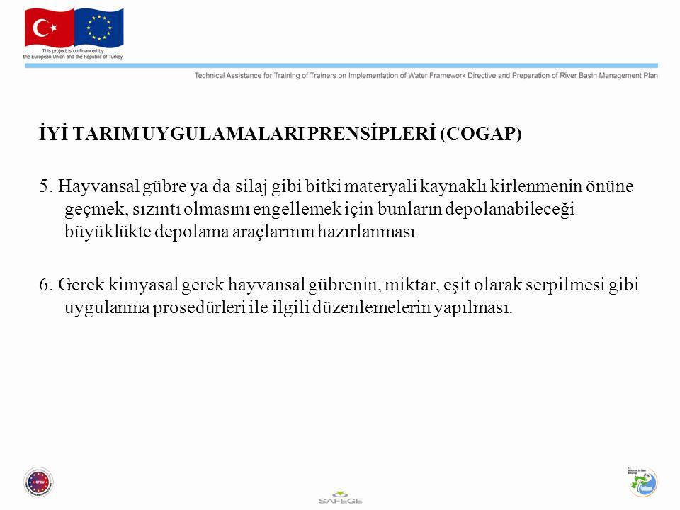 İYİ TARIM UYGULAMALARI PRENSİPLERİ (COGAP) 5.