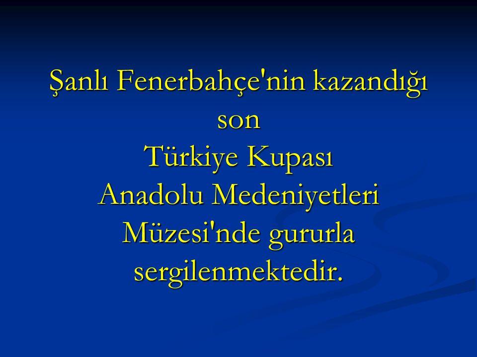 Şanlı Fenerbahçe'nin kazandığı son Türkiye Kupası Anadolu Medeniyetleri Müzesi'nde gururla sergilenmektedir.