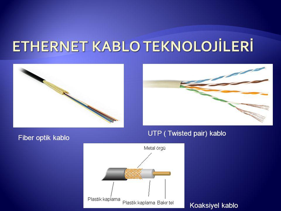 Fiber optik kablo Koaksiyel kablo UTP ( Twisted pair) kablo