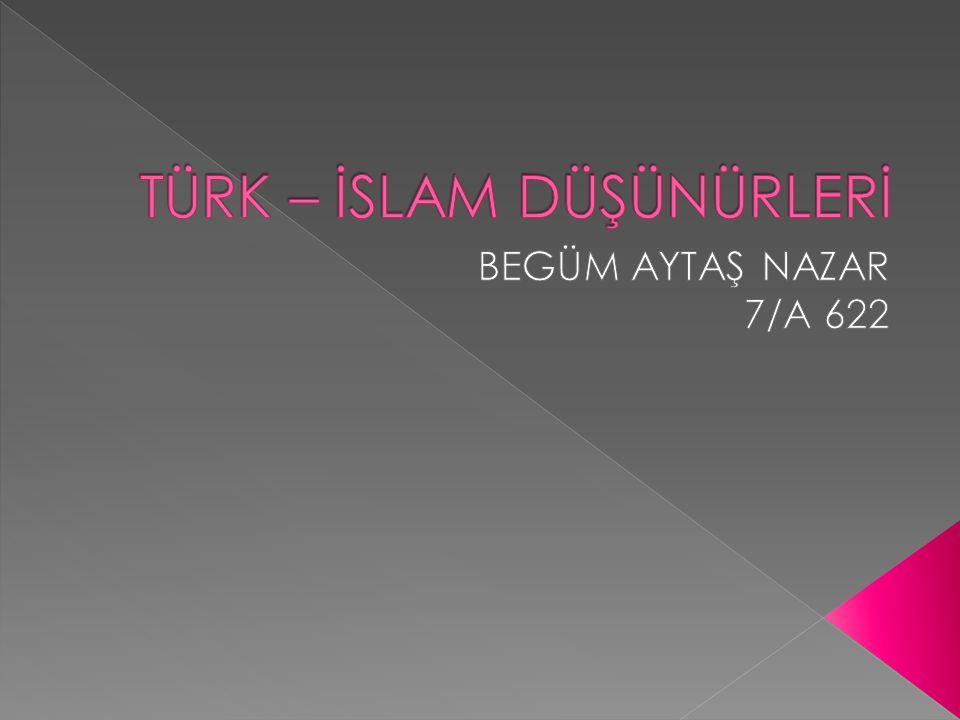  Cebir alanında ilk eser yazan Müslüman Türk bilginidir 780 yılında Harezm'de doğdu.