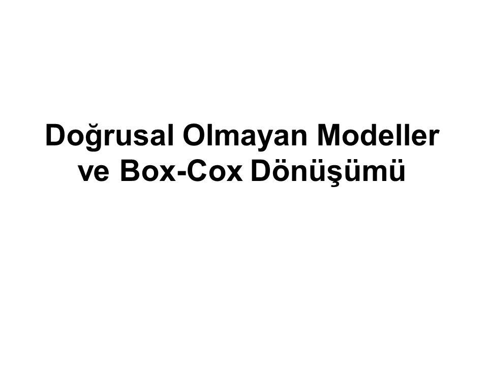 Doğrusal Olmayan Modeller ve Box-Cox Dönüşümü