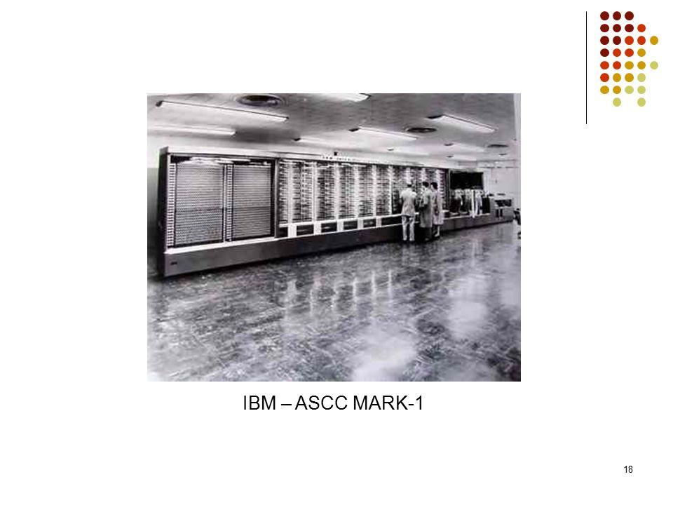 18 IBM – ASCC MARK-1