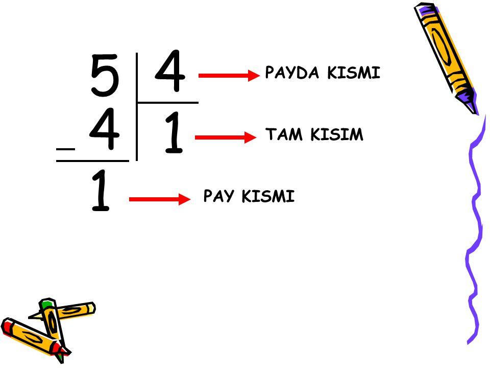 5 4 1 4 1 PAYDA KISMI TAM KISIM PAY KISMI